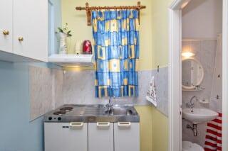 triple studio for 3 irini tinos kitchenette